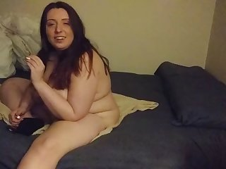 fat jenn shows off her sloppy body and huge  saggy tits