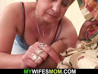 cock-hungry mother-in-law wakes him up