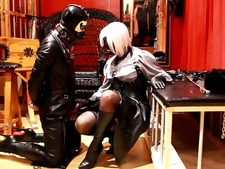 ballbusting with my leather boots