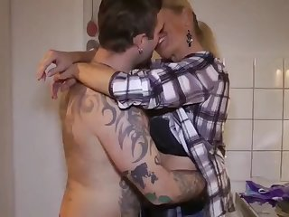fantastic milf seduces and fucks her new young roommate guy