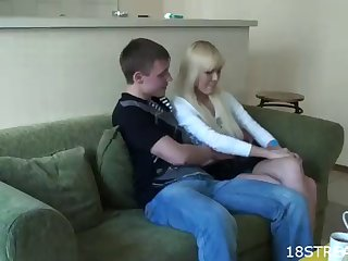 rough moaning with a kinky blonde