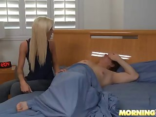 morning cowgirl and doggystyle fucking for blonde stunner maia davis