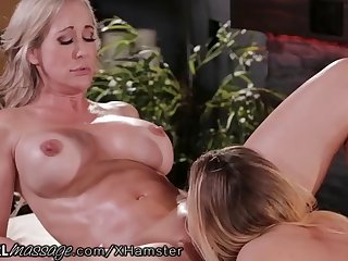 stepmom brandi love exchanges pussy licks with daughter