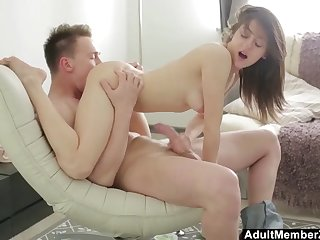 young couple uses acrobatic skills for fucked hard